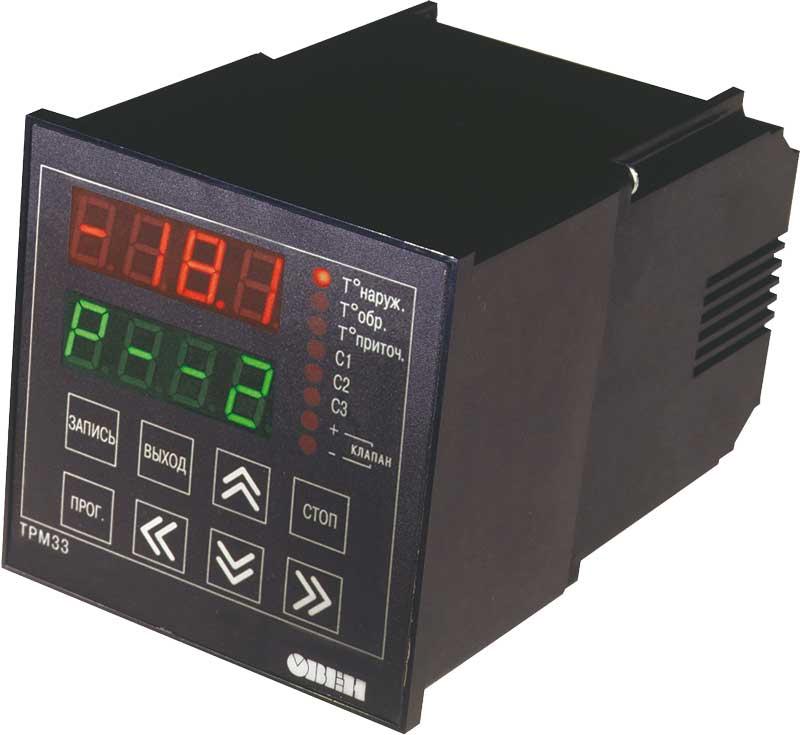ТРМ33 - контроллер для регулирования температуры в системах отопления с приточной вентиляцией