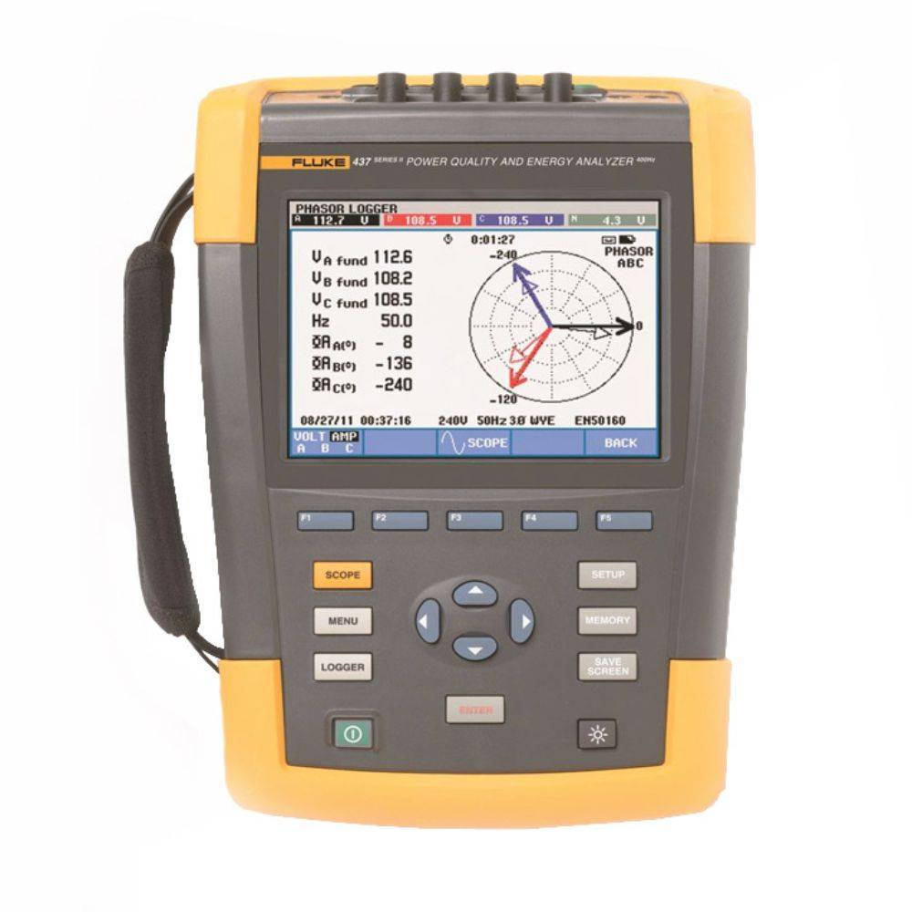 Fluke 437-II - анализатор качества электроэнергии 400 Гц
