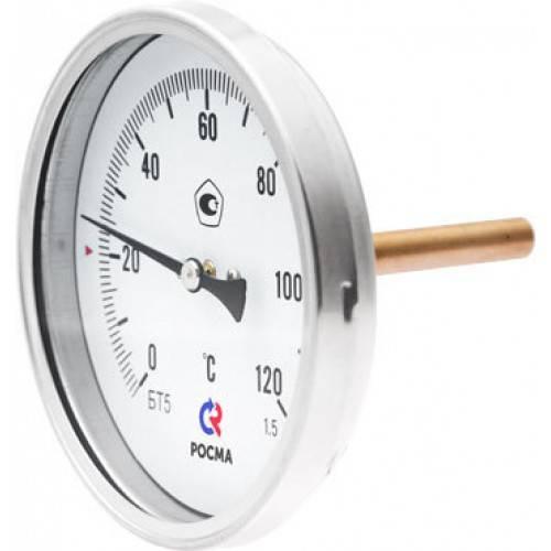 БТ-31.211 - термометр биметаллический с осевым щтуцером