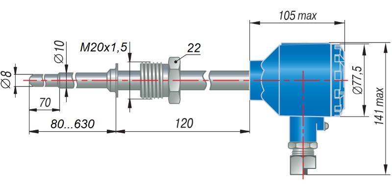 ДТС055Д-EXD - термопреобразователь сопротивления