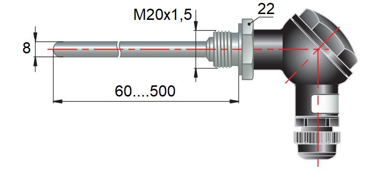 дТП105 - преобразователь термоэлектрический