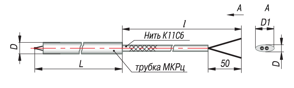 дТП031 - преобразователь термоэлектрический