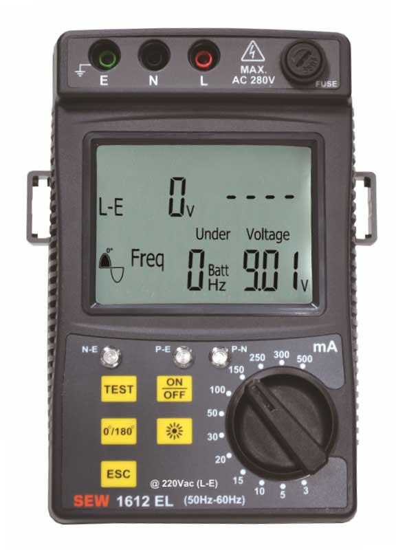 1612 EL - цифровой измеритель параметров устройств защитного отключения