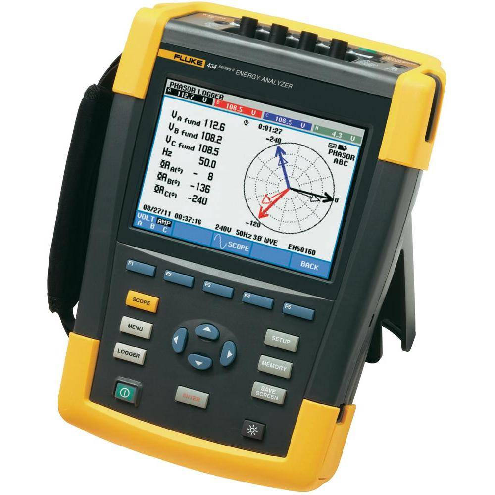 Fluke 434-II/BASIC - анализатор электроэнергии (без датчиков тока)