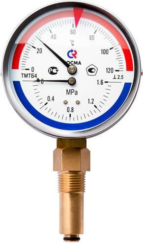 ТМТБ-41Р - термоманометр с радиальным штуцером