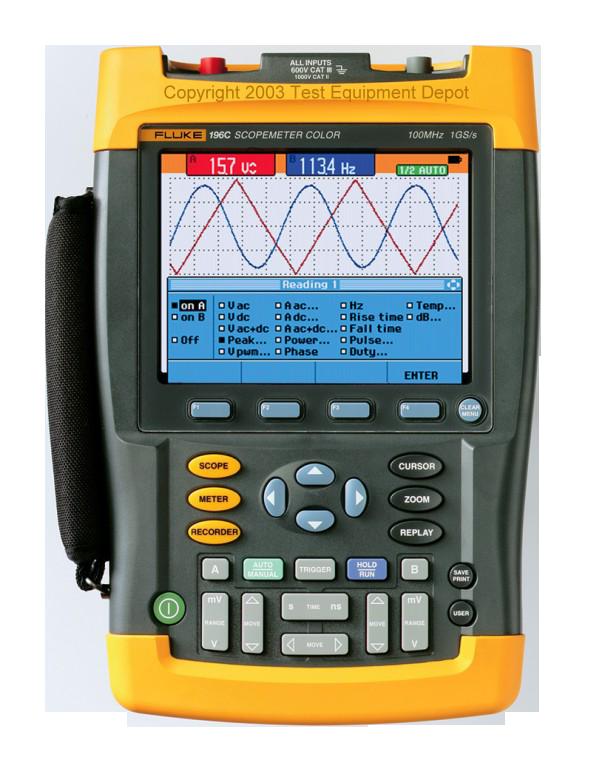 Fluke 199C - осциллограф-мультиметр (скопметр)