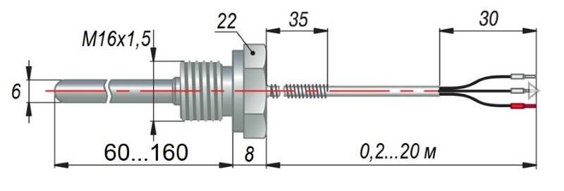 дТС054 - термопреобразователь сопротивления