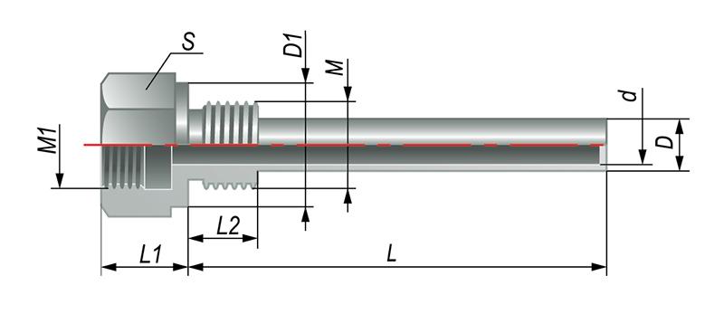 ГЗ.16.1.1.L - гильза защитная для термопреобразователей