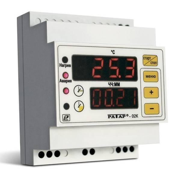 Ратар-02К - терморегулятор со встроенным таймером для саун и фитобочек