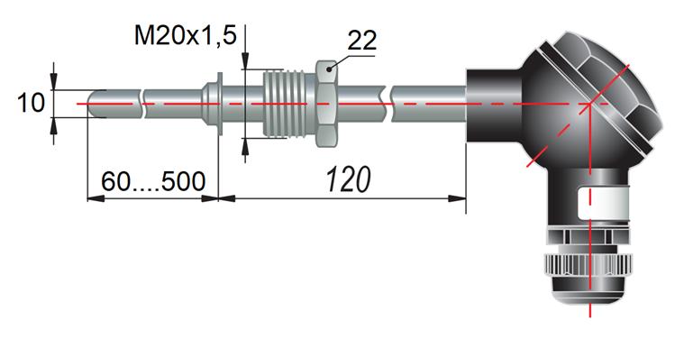 дТП045 - преобразователь термоэлектрический