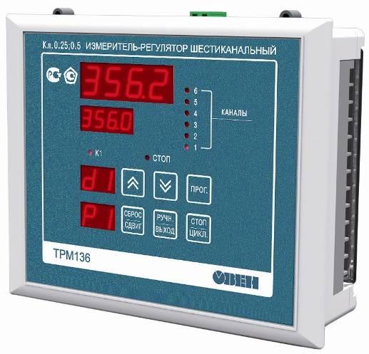 ТРМ136 - универсальный измеритель-регулятор 6-ти канальный