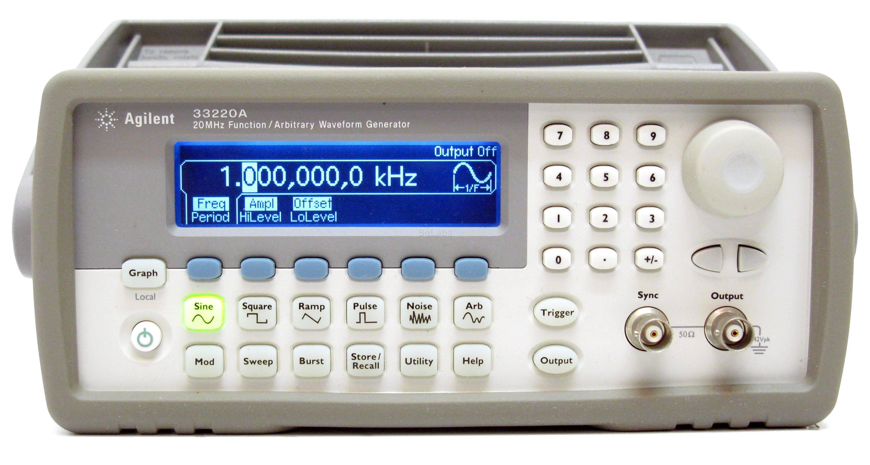 33220A - генератор сигналов специальной формы