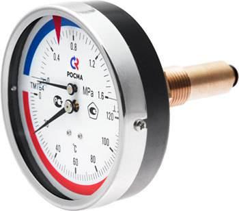ТМТБ-41Т - термоманометр с осевым штуцером