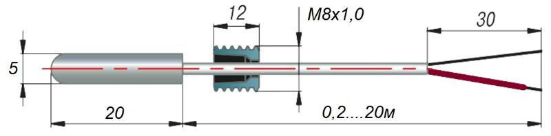 дТП034 - преобразователь термоэлектрический